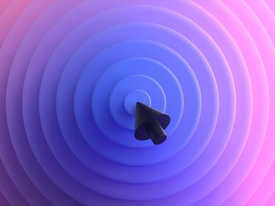 Hover 💗 hover cursor render website web design interaction c4d octane cinema 4d animation branding 3d