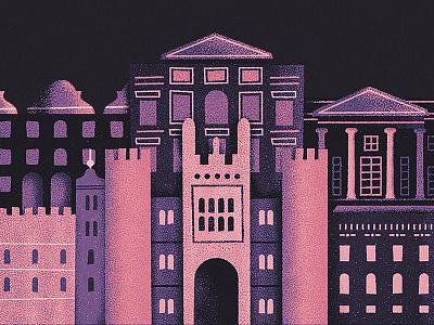 Historic Royal Palaces architecture illustration buildings palace castle vector landscape