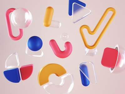 Wix Playoff: Take the Playground 🏀 cinema 4d c4d motion playground wix gif geometric typography animation cartoon abstract 3d