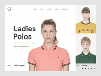 Fred Perry Product Carousel Concept