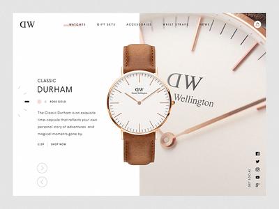 Daniel Wellington Product Page parallax web design website fashion branding watches interaction ui ux