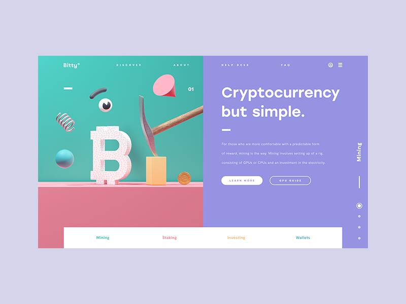 BestServedBitcoin 💰 c4d cinema 4d octane 3d ux ui website web design bitcoin crypto cryptocurrency