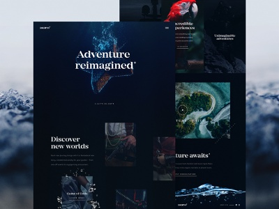 Asaro Homepage Concept ⚓ yacht adventure c4d boats ocean water render website typography interaction logo ux web design ui octane cinema 4d branding 3d