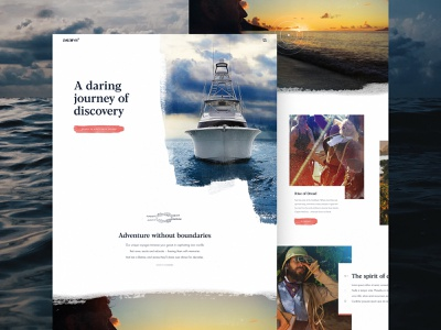 Asaro Alt Homepage Concept ⚓ typography ux interaction ui web design yacht boats ocean abstract branding