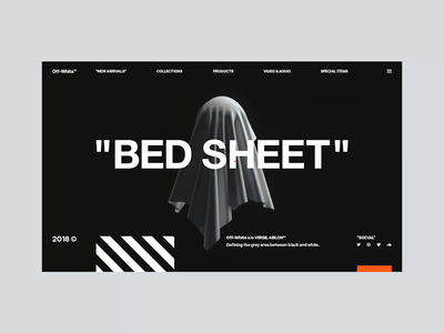 Spooky Off-White™ halloween mocktober ghost glitch typography website ux interaction web design ui abstract c4d octane cinema 4d branding animation 3d