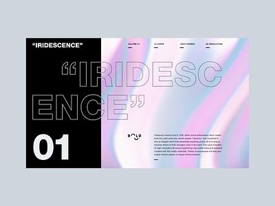Iridescence Loop loop glow marble iridescence blobs abstract cinema 4d octane animation branding 3d