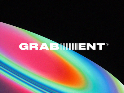 Grabient Logo art direction logo design bestservedbold brand holographic iridescent waves abstract c4d glitch identity logo gradient grabient cinema 4d octane animation branding 3d