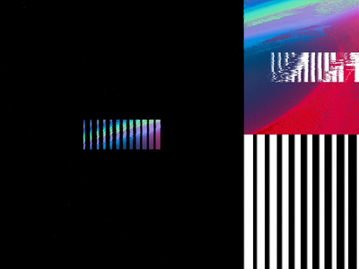 Grabient Mark brand system brand identity iridescent glitch effect logo animation animated logo typography motion holographic identity brand logo gradient glitch abstract c4d cinema 4d animation branding 3d
