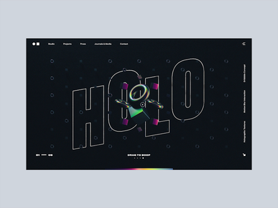 Holographic Interactions gif glitch holographic design typography website c4d ui interaction web design webgl abstract cinema 4d octane animation branding 3d