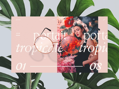 Picante Interactions 🌿 shop ecomerce identity web design plants glasses photography fashion flowers render typography website interaction c4d abstract cinema 4d octane animation branding 3d