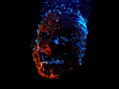 Asaro R&D 3d model abstract c4d particles simulation splash water cinema 4d octane animation branding 3d
