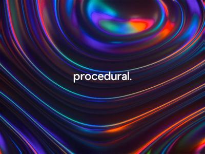 Procedural 🌈 iridescent crypto holographic holo liquid neon bestservedbold illustration ai blobs typography logo cinema 4d abstract glow gradient glitch animation branding 3d