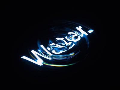 💦 wordmark glitch render interaction displace waves displacement typography abstract c4d loop wavey animation 3d branding cinema 4d octane ripple water