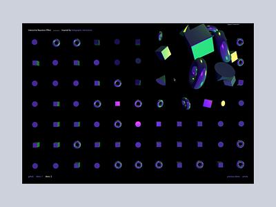 Holo Interactive website shader ui web design ux interaction octane animation branding 3d