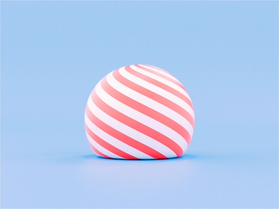 Christmas Blobs 🎅 loop christmas ball bounce abstract blob holidays christmas candy cane candy stripes texture c4d octane cinema 4d animation 3d