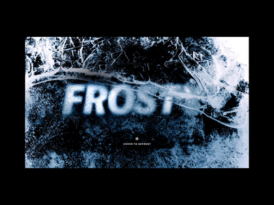 Frosty Interactions ❄ frost cold christmas ice website ux typography interaction web design ui c4d cinema 4d octane branding animation 3d