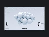 BaulBauls Alt Colourway holidays christmas render typography ux interaction web design ui c4d abstract cinema 4d octane branding 3d