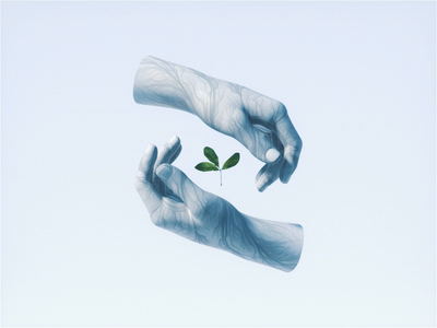 Sustainability 🌱 illustration c4d cinema 4d octane animation branding 3d plants abstract hands environmental environment eco sustainability