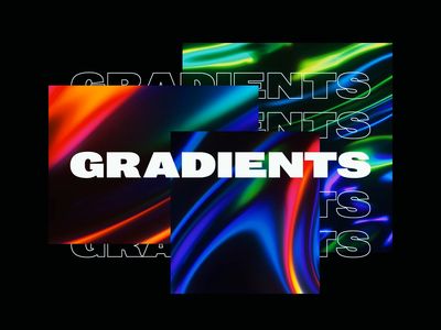 Gradients In Motion render smooth liquid glitch color colours logo brand interaction typography motion gradient octanerender c4d abstract cinema 4d octane animation branding 3d