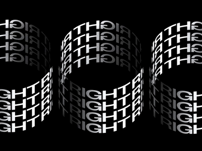Left/Right render post typography octane render 3d type rotate spin kinetic typogrsaphy kinetic type c4d abstract cinema 4d octane animation branding 3d