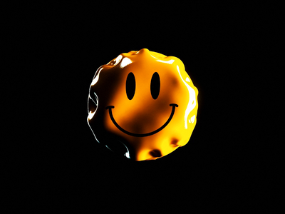 Smile More 🙃 dynamic inflate ripples wavy folds cloth simulation happy acid emoji smile cgi octane render c4d abstract cinema 4d octane animation branding 3d