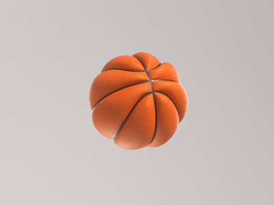 Oh Balls 🏀 nike sports brand 3d model octane render 3d render sports studio abstract c4d dribbble basketball simulation cloth cinema 4d octane animation branding 3d