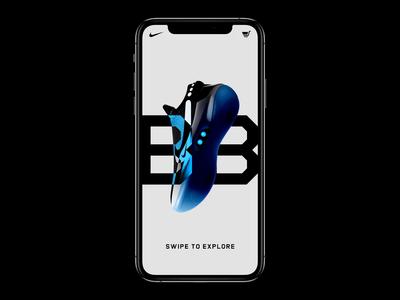 Nike React BB Interactions ui typography website mobile interaction web design ecomerce ecom fashion app nike basketball streetwear fashion sneakers trainer cinema 4d octane animation branding 3d