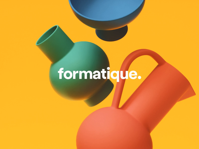 Formatique Branding idenity format graphic design logo design branding logo design logo render pots abstract c4d typography animation cinema 4d octane pattern shapes colour brand branding 3d