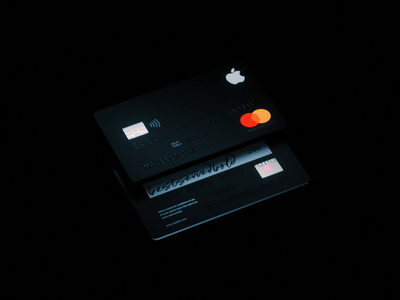 AppleCard 💳 holographic studio apple devices apple logo brand crypto currency crypto card render interaction c4d abstract cinema 4d octane animation branding 3d