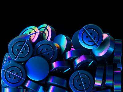 Dynamics 🙃 rainbow glitch iridescent holographic smile brand logo c4d abstract cinema 4d octane animation branding 3d