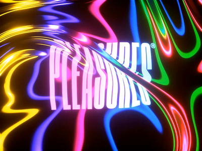 Pleasures distortion distorted typography c4d glitch liquid motion liquid abstract cinema 4d octane animation branding 3d