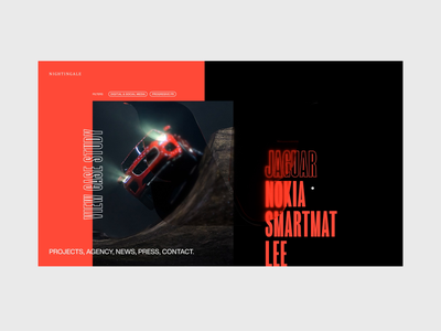 Nightingale Interactions 03 ux interaction typography c4d abstract octane cinema 4d animation branding 3d