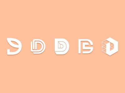 MONOGRAM D monograms monogram monogram logo logos logodesign logotype typography logo vector design