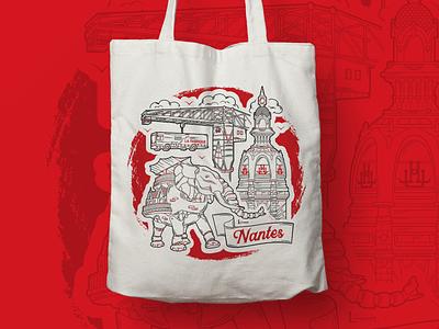 TOTE BAG ILLUSTRATION design typography illustration procreate nantes tote bag
