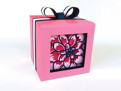 Dahlia shadow gift box
