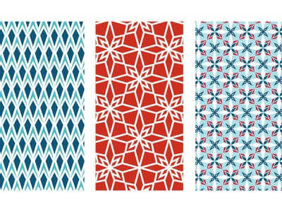 North Star Collection patterns geometric christmas holiday patterns star north star