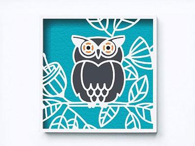 Garden owl flowers garden owl 3d paper