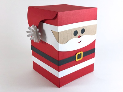 Santa Box Peep gift box paper paper art 3d cartoon wrapping gift box gift kids santa claus santa december holiday christmas