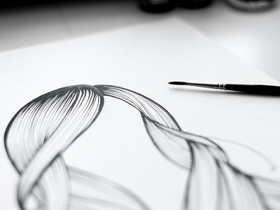 Hairdo - glam blow dry hairdo hair brush ink