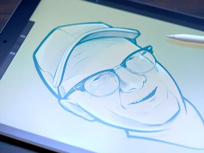 Nicholas avatar portrait illustration procreate ipad