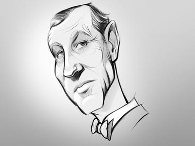 Mr. Fleming illustration portrait character sketchbook autodesk