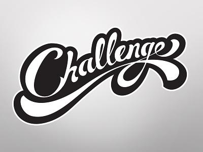 Challenge  typostration logo identity branding vector illustration