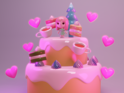 sweets party design 3d modeling cute 3d 3d art 3d