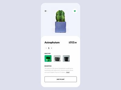 Plant Shop App // E-commerce App Design shop mobile app design interface ecommerce plants planting ux ui mobile design mobile design application app