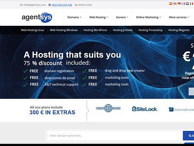 HOSTING WEB AGENTSYS domain diseño web alojamiento web alojamiento web server error dominios server agentsys agentsys prestashop wordpress vps domains servers