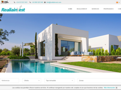 REALIA INVEST DESIGN WEB AGENTSYS costa blanca design costa blanca design spain properties spain properties real state real estate photoshop design web houses property properties