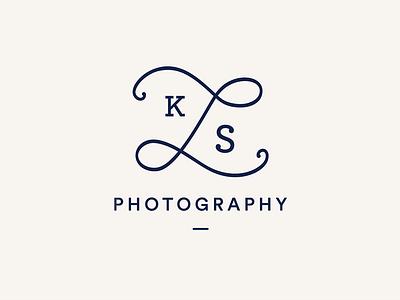 LKS Photography Logo identity branding cream navy photography logo logo