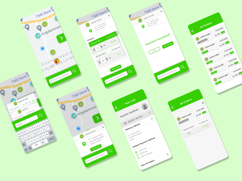 GreenGroc - Grocery Shopping App neumorphism map mobile app ecommerce grocery shopping grocery app grocery interaction design ux design ui design ux uiux ui