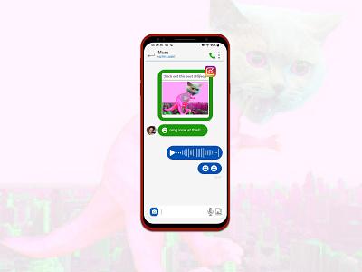 #DailyUI 013 - Direct Message cats dailyui013 ux ui dailyui