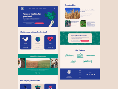 Liberty Gardens illustration branding and identity concept brand design garden farm farming colorful vintage retro ux uxui web design
